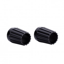 Grooved Exhaust Tips in Matte Black, Pair