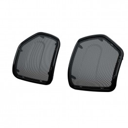 PowerBand Audio Saddlebag Lid Speaker Bezels in Thunder Black, Pair