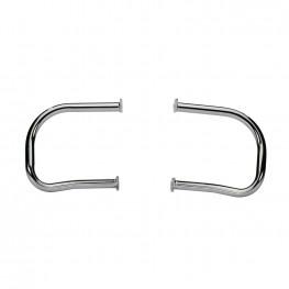 Steel Rear Highway Bars in Chrome, Pair