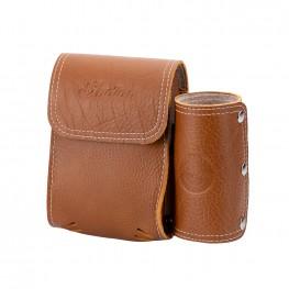 Genuine Leather Rear Highway Bar Bag, Desert Tan
