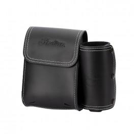 Genuine Leather Rear Highway Bar Bag, Black