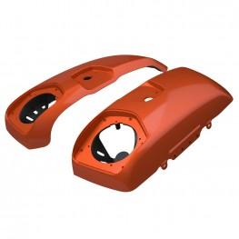 PowerBand Audio Saddlebag Speaker Lids in Burnt Orange, Pair