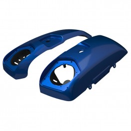 PowerBand Audio Saddlebag Speaker Lids in Radar Blue, Pair