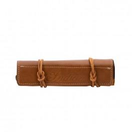 Genuine Leather Fork Bag Tool Roll, Desert Tan