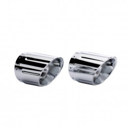 Six Shooter Exhaust Tips in Chrome, Pair