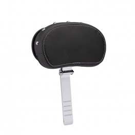 Genuine Leather Rider Backrest Pad, Black with Studs