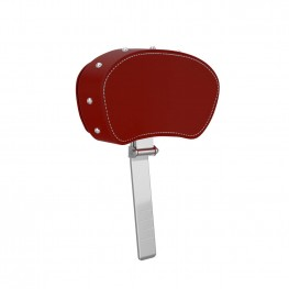 Genuine Leather Rider Backrest Pad, Red with Studs