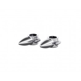 Highway Bar Toe Rests in Chrome, Pair