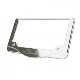 Indian® Script License Plate Frame, Chrome