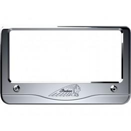 Billet Aluminum Headdress License Plate Frame, Chrome