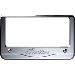 Billet Aluminum Indian® Script License Plate Frame, Chrome