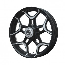 Aluminum 19 in. Precision Machined Front Wheel Kit, Contrast Cut