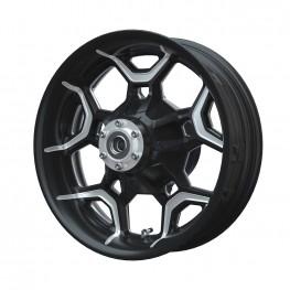 Aluminum 19 in. Precision Machined Rear Wheel Kit, Contrast Cut