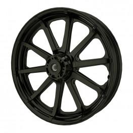 Cast Aluminum 19 in. 10-Spoke Front Wheel Kit, Black