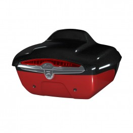 Quick-Release Lockable Trunk with Taillight, Thunder Black Vivid Crystal Over Wildfire Red Candy