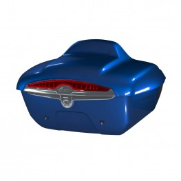 Quick-Release Lockable Trunk with Taillight, Radar Blue
