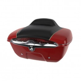 Quick-Release Lockable Trunk with Taillight, Indian Motorcycle® Red over Thunder Black