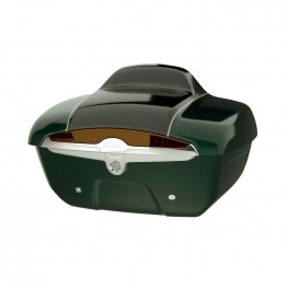 Quick-Release Lockable Trunk with Taillight, Metallic Jade Green over Thunder Black