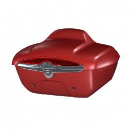 Quick-Release Lockable Trunk with Taillight, Ruby Smoke