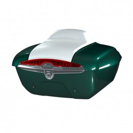 Quick-Release Lockable Trunk with Taillight, Metallic Jade over Pearl White
