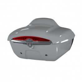 Quick-Release Lockable Trunk with Taillight, Ghost Gray