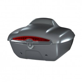 Quick-Release Lockable Trunk with Taillight, Titanium Smoke