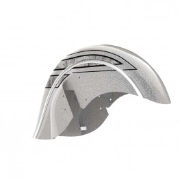 Valance Front Fender, Black Hills Silver with Marble Accents