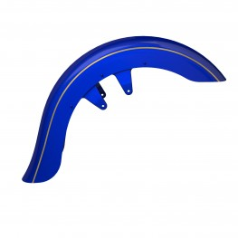Open Front Fender Kit, Blue Candy with Gold Strip