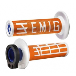 ODI MX V2 EMIG LOCK ON GRIP ORANGE/WHITE 2 ST / 4 ST