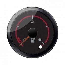 Black Dial Face Fuel Gauge