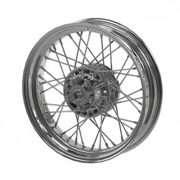Steel 16 in. Laced Front Wheel, Chrome