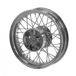Steel 16 in. Laced Rear Wheel, Chrome