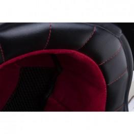 Adventure Helmet with Matte Stripe, Gray/Red