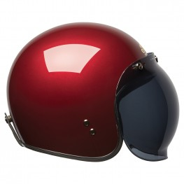 Open Face Retro Helmet, Red