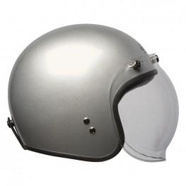 Open Face Retro Helmet, Silver