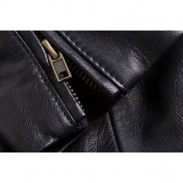Women's Leather Charlotte Casual Jacket, Black