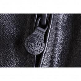 Women's Leather Charlotte Vest, Black