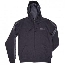 Men's Full-Zip Tonal Hoodie Sweatshirt, Gray