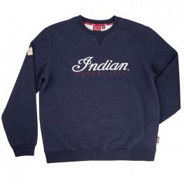 Men's Pull-Over Sweatshirt with 3D Logo, Navy