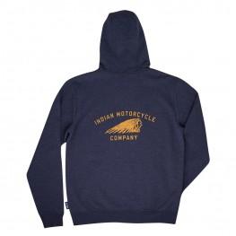 Men's Full-Zip Headdress Hoodie Sweatshirt, Blue