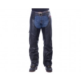 Men's Traditional Leather Chaps, Black