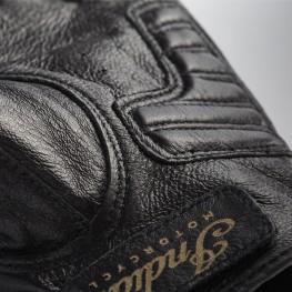 Women's Leather Fingerless Gloves, Black