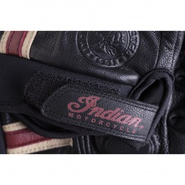 Women's Leather Retro 2 Riding Gloves, Black