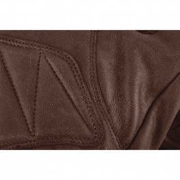 Men's Perforated Leather Cinder Riding Gloves, Brown/Cream
