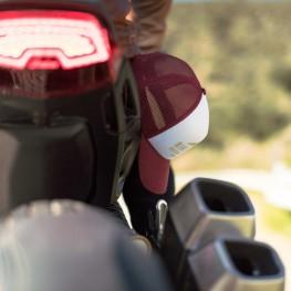 BSMC x Indian Motorcycle Foam Hat, White/Port/Tan