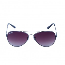 Aviator Sunglasses with Brown Lens, Silver