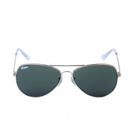 Aviator Sunglasses with Green Lens, Gold
