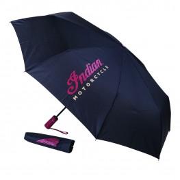 Umbrella with Logo Print, Black
