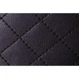 Women's Leather Cross-Body Messenger Bag, Black