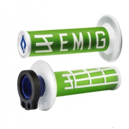 ODI MX V2 EMIG LOCK ON GRIP GREEN/WHITE 2 ST / 4 ST